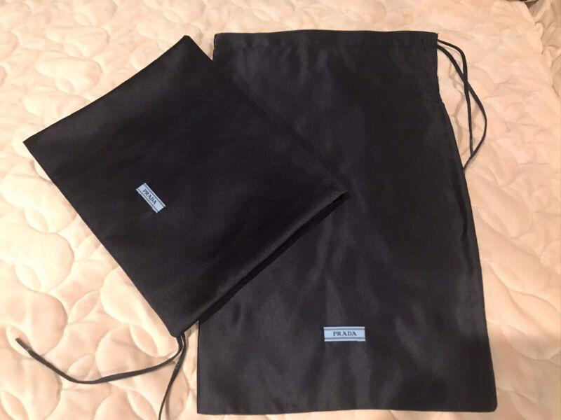 New Prada Navy Silk Autchentic Drawstring Dusbags Shoe/purse Bags(14x8.5) $20