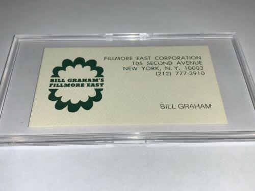 BILL GRAHAM ORIGINAL BUSINESS CARD FILLMORE EAST THE DOORS JIMI HENDRIX JOPLIN