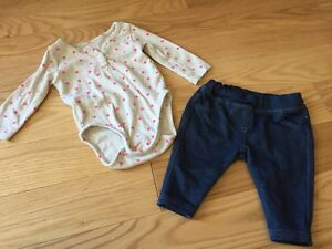 5 outfits size 0-3 months girls 14 pieces