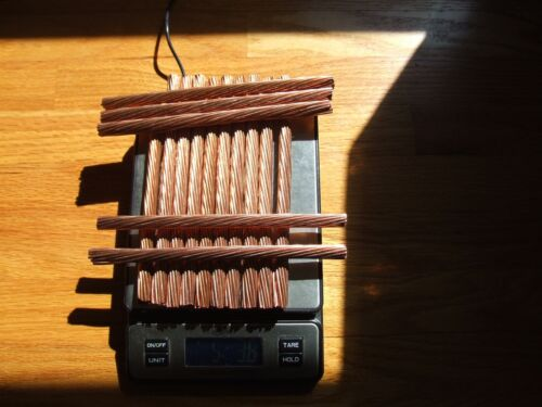5 Lbs 3 Oz AWG 3/0 Scrap Copper Clean Bare Wire Melt Ingot Cast Art 99.9% pure