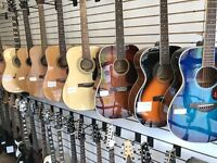 Musicians wanted! Come view our selection of guitars