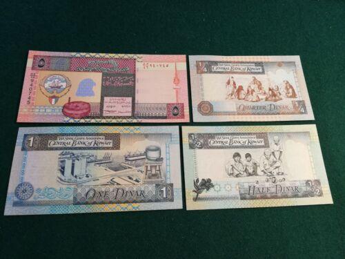 KUWAIT 1/4-1/2-1-5 DINARS  UNC