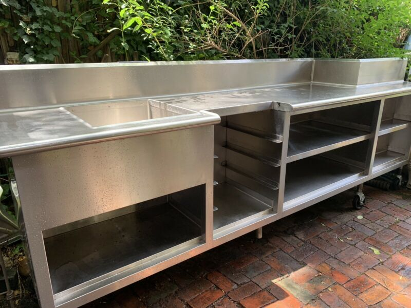 Commercial Stainless Steel Sink Basin & Shelving, from Bellevue Hotel