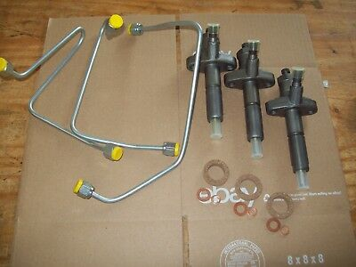 Ford 3000 Tractor Fuel Injector And Fuel Lines Wsimms Injection Pump 1966-1970