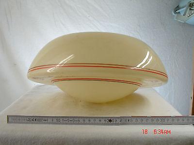 Opal Creme (Lampenschirm  Opalglas  cremefarben Art Deco für Stabpendelleuchte Lampe)