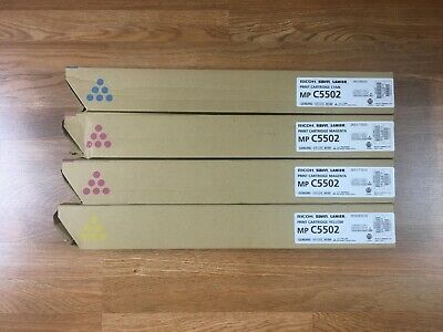 Lot Of 4 Genuine Ricoh Savin Lanier Mp C5502 Cmmy Toner Fedex 2day Air