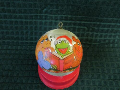 Vintage The Muppets Merry Christmas Satin Ornament 1980