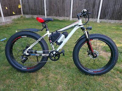Fat Tyres Electric Bike/E Bike/Mountain Bike & LG Cell Battery Pack white.