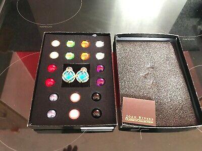 Joan Rivers Classic Collection Interchangeable Jewels Earrings