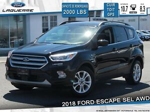 2018 Ford Escape SEL 4WD**CUIR*TOIT*GPS*CAMERA*CRUISE ADAPT**