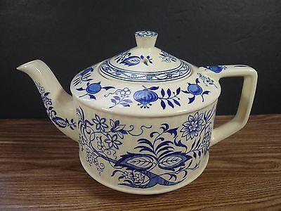 Original Vintage Sadler Staffordshire England Blue Onion Tea Pot