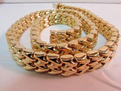 """18K Gold Reversible Designer Necklace 16.5""""L. 60grams  SALE-SAVE $7,000.   #744"""