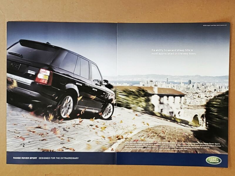 2008 Range Rover Sport Appreciate Steep Hills on Way Down PHOTO PRINT AD 2 Pg K5