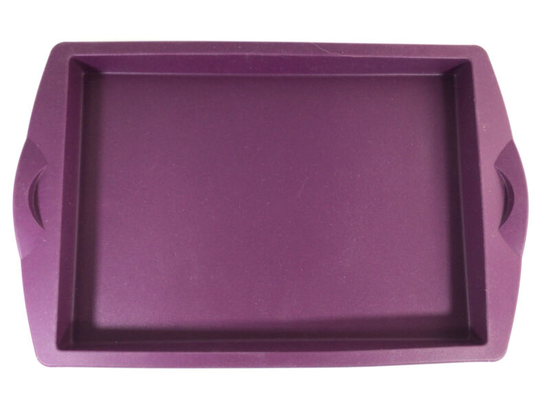 "NEW Tupperware Silicone Rectangular Baking Form 10"" x 7"" Purple Cabbage"