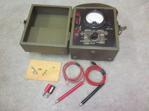 US ARMY SIGNAL CORPS Military Voltmeter VOM I-166 Vietnam War era Voltohmmeter