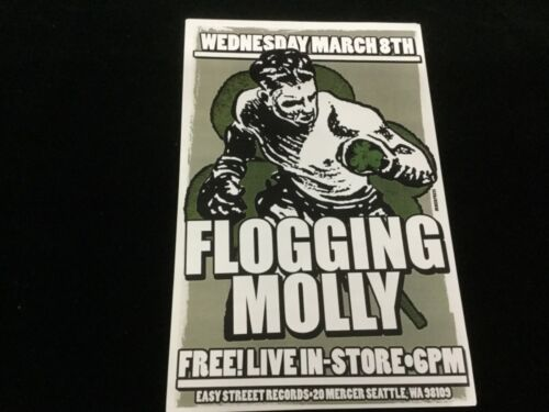 """Vintage Flogging Molly Live In Store Easy Street Records  Poster 11"""" x 17"""""""