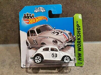 Hot Wheels Volkswagen 'Herbie' Beetle Love Bug HW Workshop Disney 2014 Die-cast