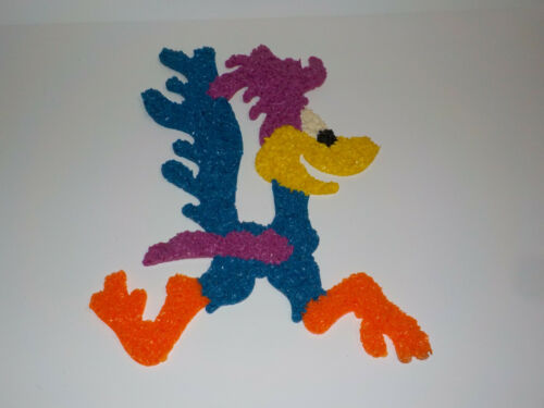"Vtg 1970s  20"" Road Runner Looney Tunes  Melted Popcorn Plastic Wall Decoration"