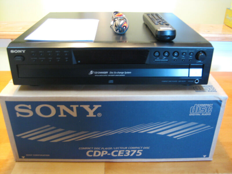 Sony CDP-CE375 Five Disc CD Changer