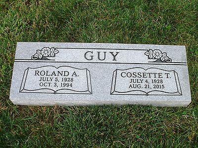 Granite Headstone Grave Marker Gray-Bevel companion-multiple engraving options