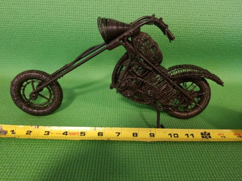 HANDMADE CRAFT Wire Metal Motorcycle Bike COLLECTIBLE Vintage Style