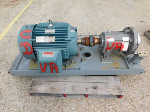 Flowserve Durco Magnetive Drive Centrifugal Pump LH2X1 Hastelloy C-276 SS 40 HP