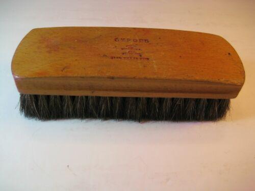 Oxford 100% Horse Hair Shoe Shine Brush-Vtg Wood Handle/Sterilized-Made in USA