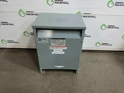 Used 15 Kva Dry Type Transformer 480 Delta 208y120 Square D 15t3hf Watch Dog