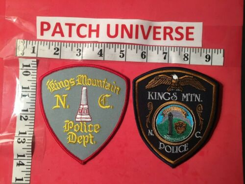 LOT OF TWO DIFFERENT KINGS MOUNTAIN  NC POLICE  SHOULDER PATCHES  Q072
