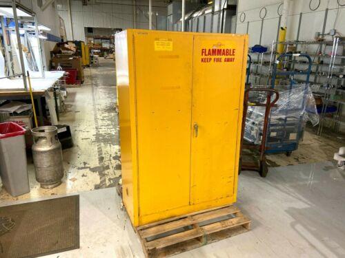 Justrite 25450 Flammable Liquid Yellow Storage Cabinet 45 Gallon Capacity