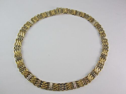 Stunning 14k Multi-tone Gold  Necklace 37.1 Grams