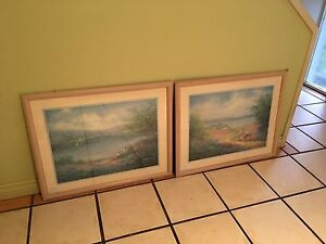 Paintings water colour framed Carrara Gold Coast City Preview