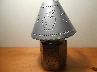 Silver Punched Tin base and topper  for jar candle Vintage Home Interiors