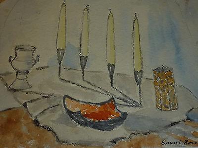 Wunderschönes Stillleben Kerzenständer Expressionismus Emmi Rose * 1935 Dortmund