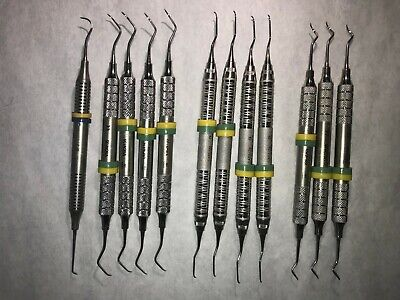 Dental Instruments Very Good Condition Hu-friedy And Nordent Lot Of 12