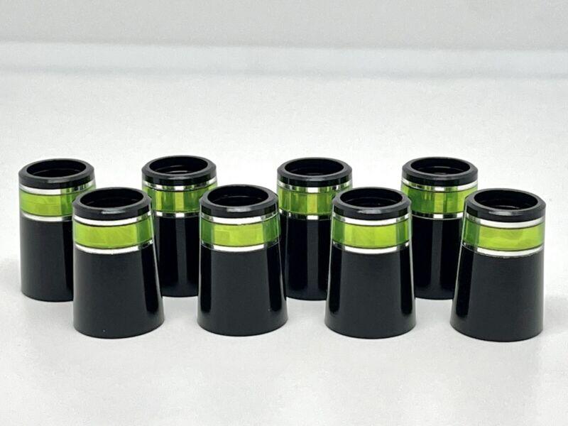 """8 pcs Universal Size Fancy Green / Silver Ring ferrule Fit Both .355"""" / .370"""""""