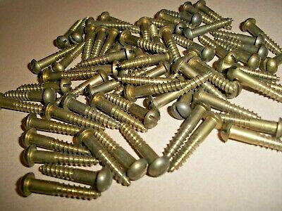 #6 X 7//8 Wood Screws Oval Slot Brass 75 pcs