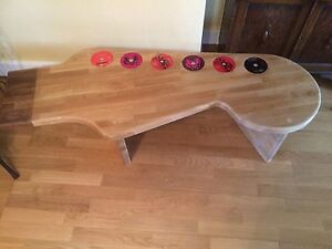 guitar coffee table beech hand made bespoke wood unique fender ebay. Black Bedroom Furniture Sets. Home Design Ideas