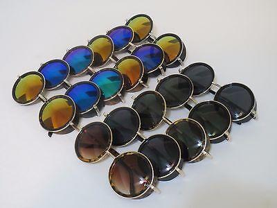 Steampunk Sunglasses Retro Classic 50s Round Circle Goggles For Men (50s Sunglasses Men)