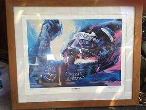 Damon Hill Formula One Victory Limited Lithograph Signed &Framed! Mosman Mosman Area Preview