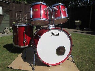 Pearl BLX drum kit .Sequoia Red