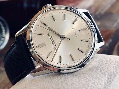 International Watch Company IWC Vintage Mens dress Automatic steel watch + box