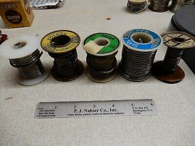 2 12 Pounds Of Vintage Solder Kester Dutch Standard 5 Spools Shown