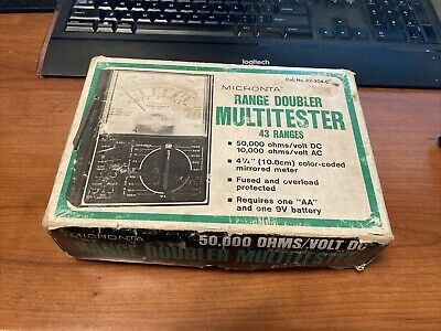 Vintage Micronta Range Doubler Multitester 22-204 C W Box Manual