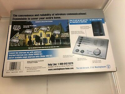 New Westinghouse WHDBI-5C Whole-House Wireless Doorbell and Intercom ()