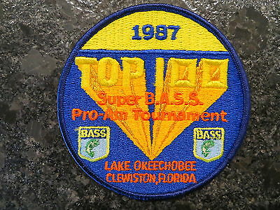 Rare Vintage Bassmaster Tournament Patch 1989 Top 100 Maryland