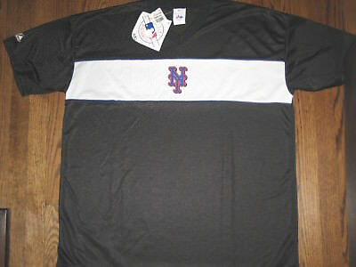 New mens XL XXL Majestic NY Mets shirt top baseball athletic apparel
