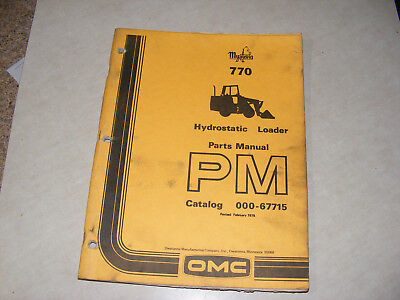 Mustang Omc 770 Skid Steer Loader Parts Manual