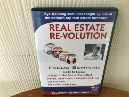 REAL ESTATE REVOLUTION - REALTOR INVESTING SECRETS  PHILL GROVE - 4 DVD PACKAGE!