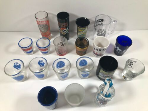 19 Shot Glasses - Different Cities And States / World